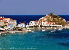 Kokkari is a village on Samos Island, Greece