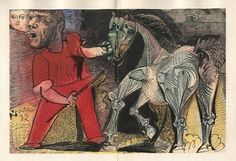 picasso/cheval de cirque, 1956-