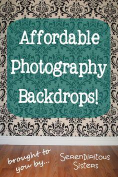 Cheap DIY Photography Backdrops!