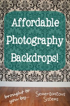 Cheap DIY Photography Backdrops!