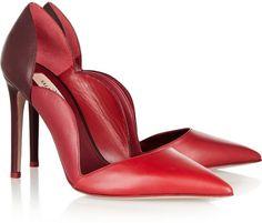 Valentino Scalloped leather pumps