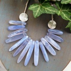 Chalcedony   and silver necklace £139.00
