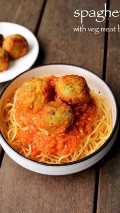 vegetarian spagetti recipe with veg meat balls Veg Recipes, Spicy Recipes, Kitchen Recipes, Lunch Recipes, Indian Food Recipes, Cooking Recipes, Healthy Recipes, Pasta Recipes Vegetarian Indian, Veg Breakfast Recipes Indian