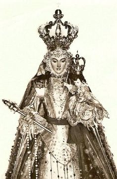 """An excerpt from """"The Mystical City of God"""": 'The three divine Persons placed up on the head of the most blessed Mary a crown of such new splendor [saying] """"Thou shalt be the Empress & Mistress of the militant Church, its Protectress, its Advocate, its Mother & Teacher.Thou shalt be the special Patroness of the Catholic countries; & whenever they, or the faithful, or any of the children of Adam call upon thee from their heart...thou shalt relieve and help them in their labors and…"""