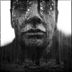 Double exposure photos are all the rage these days, and Florian gets it perfectly in his shot, Wooden Vision.   via Reddit