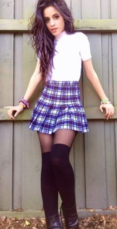 Plaid tennis skirt? NOT. That's my Catholic school uniform trying too hard.