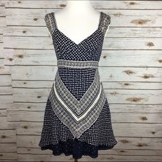 """[Free People] Bandana Dress Eyelet Country Boho Bandana printed dress with ruched elastic shoulder straps. V-neckline. Smocked back for fit and comfort. Fitted bodice with flared skirt. Peekaboo eyelet trim at the hem. Hidden side zip. Lined.   Fabric: 68% Linen 32% Cotton Bust: 15.5"""" Waist: 13"""" Length: 32"""" Condition: EUC. No flaws.  No Trades! Free People Dresses Mini"""