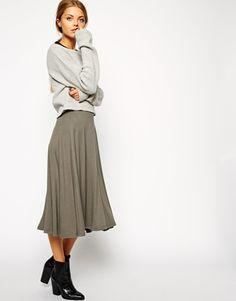 ASOS Midi Circle Skater Skirt
