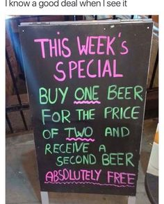 I have never had a beer in my life but I'd go there for the sake of the witty little shit that wrote this