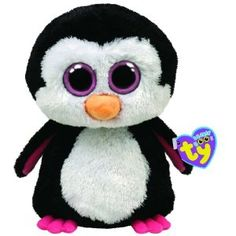 Ty Beanie Boos Paddles The Penguin Pink /// its Waddle's Sister @Allyssa de Gourville and @Daniella de Gourville