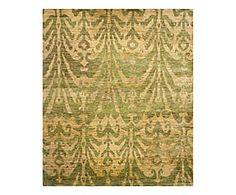 Tappeto in juta Tanta verde/oro - 152x243 cm