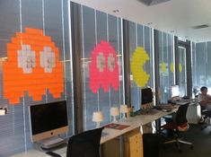 I am currently doing a project with students inspired by post-it wars.