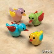 Bird Glass Beads