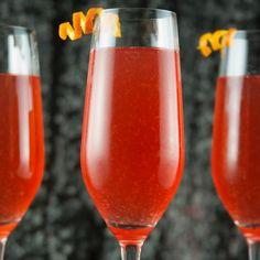 Sparkling blood orange cocktail perfect for any party.
