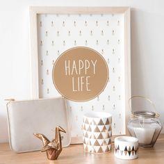 Copper details and ornaments   AMBRE porcelain origami crane ornament H 10 cm   Maisons du Monde