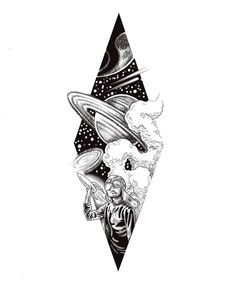 32 Tattoos for Women - Page 2 of 29 - Tattoo Designs Kunst Tattoos, Body Art Tattoos, Sleeve Tattoos, Tattoo Sketches, Tattoo Drawings, Art Sketches, Alien Tattoo, Space Drawings, Cool Art Drawings