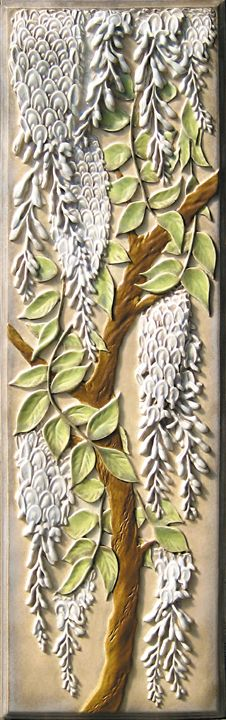 Lewellen 6x18 Inch Wisteria Tile-Hand Painted 1-W