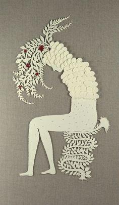 Elsa Mora paper cutting art