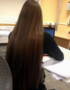 long chocolate brown hair