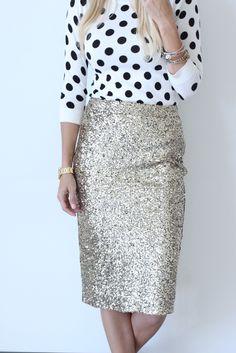Posh Pencil Skirt - Gold – Mindy Mae's Market