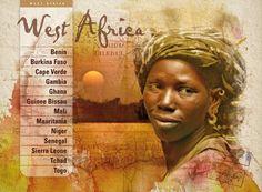 West Africa - Infografía para catálogo de viajes Sierra Leone, Ghana, Illustration, Visual Identity, Sun Art, Photo Retouching, Visual Arts, Graphic Art, Digital Art