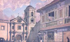 San Agustin Church by Felipe Adriano Philippine Houses, Philippine Art, Filipino Art, Filipino Culture, Philippines Culture, Philippines Travel, Manila, Philippine Mythology, Philippine Architecture