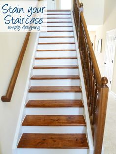 How to Stain your Staircase | step by step instructions on how to rip up carpet and refinish wood stairs, including all the mistakes we made...