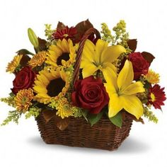 Exotic Flowers Basket Send flowers Online