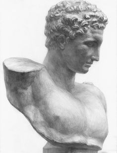 Anatomy Sketches, Drawing Sketches, Art Drawings, Figure Drawing, Painting & Drawing, Greek Drawing, Plaster Sculpture, Classic Artwork, Classical Art
