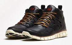 Nike Free Run Sneakerboot Leather 'Black/Black'