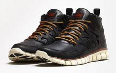 Nike Free Run Sneakerboot Leather 'Black/Black'