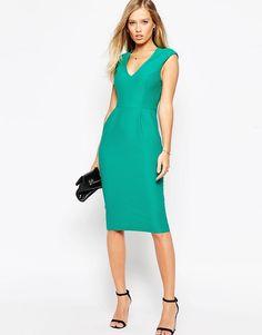 Платье из фактурного трикотажа ASOS - Зеленый
