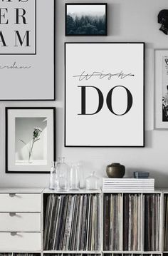 """Don't Wish, Do"" Motivation Quotes, Quote Prints, Typography Print, Motivational Prints, Inspirational Quote Print, Quote Poster, Black and White Typography #homeinspo #homedecor #wallart #inspirationalwallart #art #print #digital #typographyprint #typographyposter #quoteprints #wordart #wordprints #typographywallart"