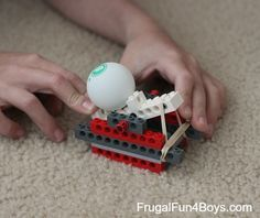 Build a Lego Catapult- instructions for something to do with all those extra Legos we have.