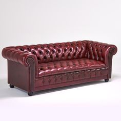 vintage burgundy leather chesterfield sofa ideas leather