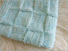 Free Knitting Pattern - Baby Blankets & Afghans: Waffled Baby Blanket