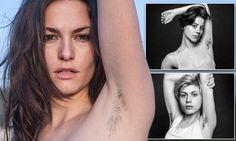 Photo+series+of+women+with+underarm+hair+challenges+beauty+conventions #DailyMail