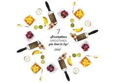 7 Must-Try Protein Smoothie Recipes - Choc banana - Berry - Hot Chocolate - Blueberry and banana super greens - Power Protein - Summer fruit (green) - Mango madness