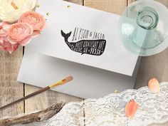 Whale Address Stamp Whale Decor Whale Lover Gift Whale