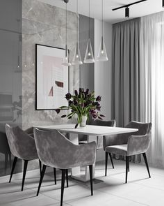 Modern Dining Tables brings you luxury dining room designs by the interior designer Elizabeth Metcalfe. Luxury Dining Room, Dining Room Design, Dining Room Chairs, Kitchen Chairs, Room Interior, Home Interior Design, Interior Designing, Dining Room Inspiration, Modern Dining Table