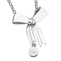 Karen Walker KW27PN  Bow  - Christies Diamond Jeweller Jewellery Nz, New Zealand Jewellery, Bow Necklace, Karen Walker, Bows, Jewels, Diamond, Silver, Arches