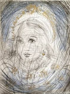 """Available for sale from Off The Wall Gallery, Salvador Dalí, The Night of Walpurgis Faust - Goethe Series: """"Portrait of Marguerite. Faust Goethe, Figueras, Salvador Dali Art, Arches Paper, Surrealism Painting, Sculpture, Amazon Art, Surreal Art, Beautiful Paintings"""