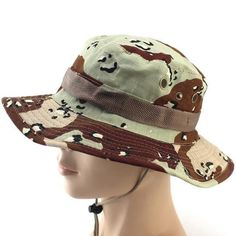 SUMMER BUCKET HATS MILITARY CAMOUFLAGE HAT FOR MEN JUNGLE FISHERMEN HATS WITH WIDE BRIM SUN HAT CAP FOR WOMEN MEN #HatsForWomen #MilitaryHatsForWomen