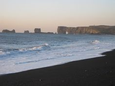 Black sand beach near Vik, Iceland