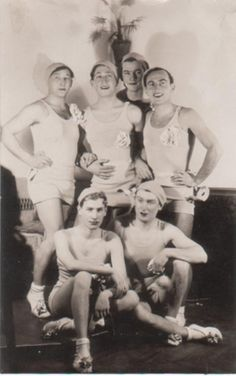 Members of a male dance troupe - USA, 1920s