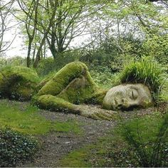 Sleeping Goddess at Lost Garden of Heligan, Cornwall, England #TourThePlanet