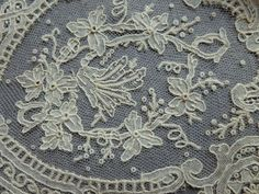 A Victorian Fine Lawn Handkerchief with Brussels Point de Gaze Lace Edging   eBay
