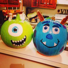 paint mike and sully pumpkins :)   Holiday Recipes   Pinterest