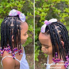 Little Girls Ponytail Hairstyles, Little Girl Ponytails, Little Black Girls Braids, Toddler Braided Hairstyles, Lil Girl Hairstyles, Faux Locs Hairstyles, Girls Natural Hairstyles, Natural Hairstyles For Kids, Braids For Black Hair