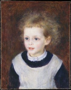 Marguerite-Thérèse (Margot) Berard (1874–1956)  Auguste Renoir  (French, Limoges 1841–1919 Cagnes-sur-Mer)    Date:      1879  Medium:      Oil on canvas  Dimensions:      16 1/8 x 12 3/4 in. (41 x 32.4 cm)  Classification:      Paintings  Credit Line:      Bequest of Stephen C. Clark, 1960  Accession Number:      61.101.15    This artwork is currently on display in Gallery 824